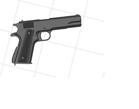 3D printable model Colt 45