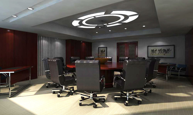 seminar room with elite ceiling decor 3d model max 1