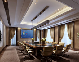 3D Conference Room with Elite Wall Art