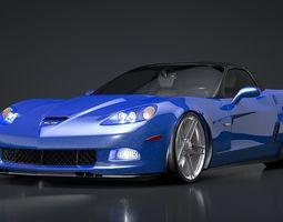 3D model Chevrolet C6 Corvette Z06 Rigged C4D