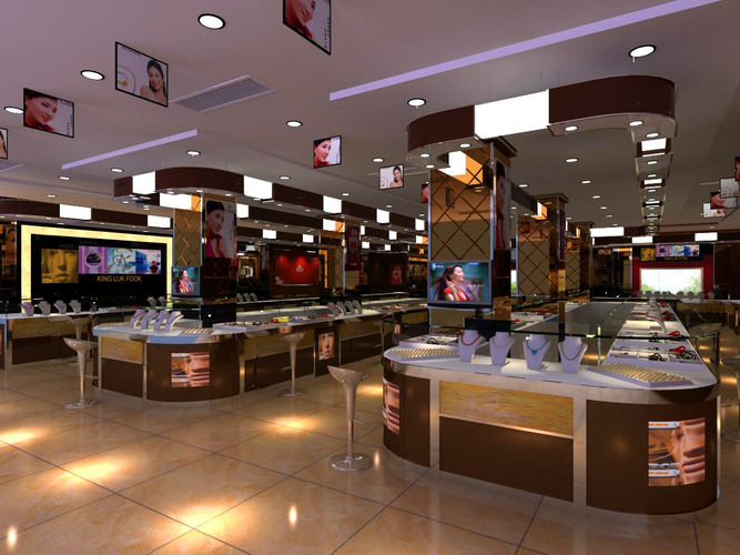 high end jewelry store 3d model max cgtrader