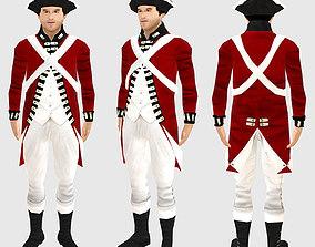 British soldier 1780 3D