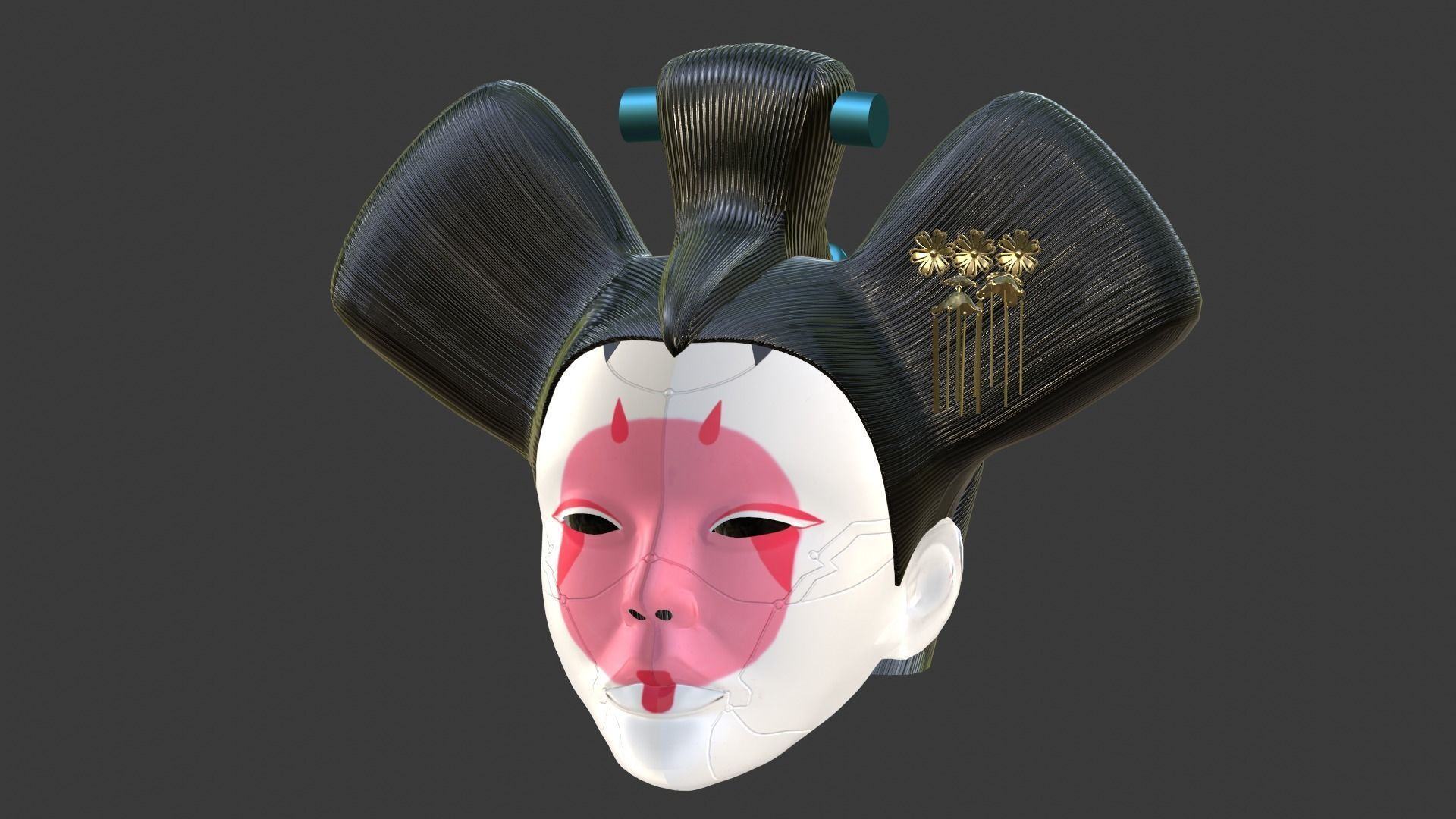 Animatronic Geisha Head From Ghost In The Shell For 1