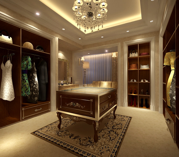 living room with wooden cabinet 3d cgtrader. Black Bedroom Furniture Sets. Home Design Ideas