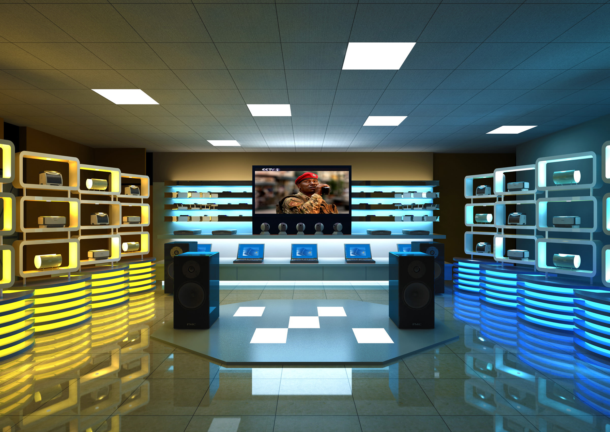 3D model Modern Electronics Store | CGTrader