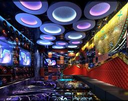 3d model exquisite ktv lounge with designer interior