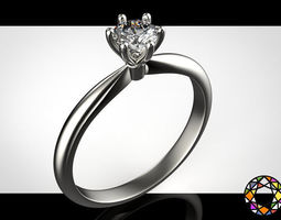 Engagement ring with a set of sizes 3D printable model