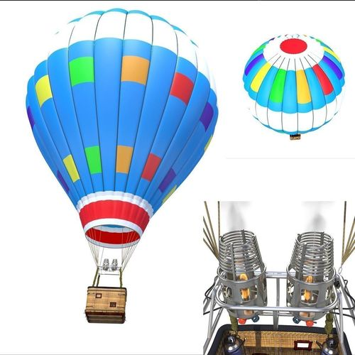 balloon air 3d model max obj mtl 3ds fbx c4d lwo lw lws 1