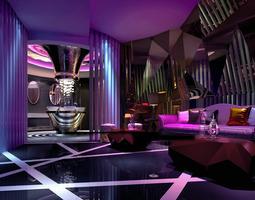 KTV Lounge with Designer Shaft 3D