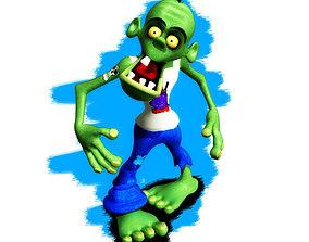 3D asset Cartoon Zombie