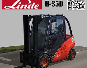 Linde Forklift Trucks H35D 3D asset rigged