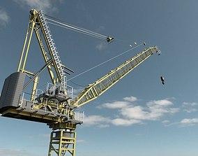 3D Construction Site Crane