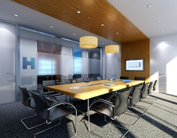 3D Conference Room with Skylight