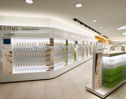 Exquisite Cosmetic Store 3D