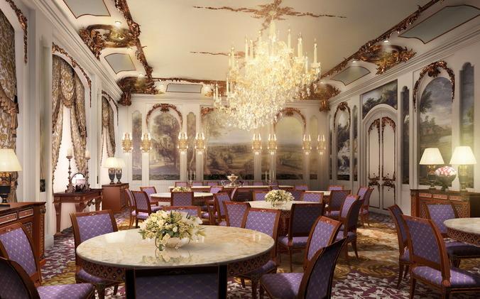 D luxurious restaurant luxury interior cgtrader