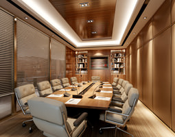 3D model Conference Room with Exquisite Table