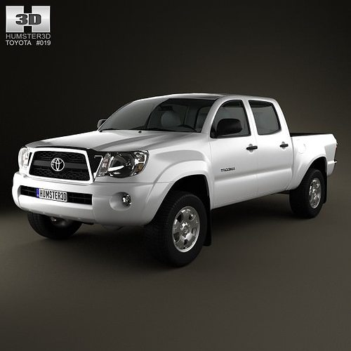 toyota tacoma double cab 2011 3d cgtrader. Black Bedroom Furniture Sets. Home Design Ideas