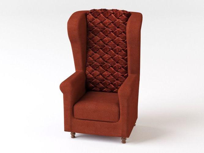 Old Armchair 3D Model