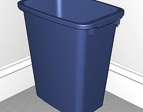 Plastic Trash Can 3D asset