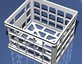 3D Plastic Storage Crate