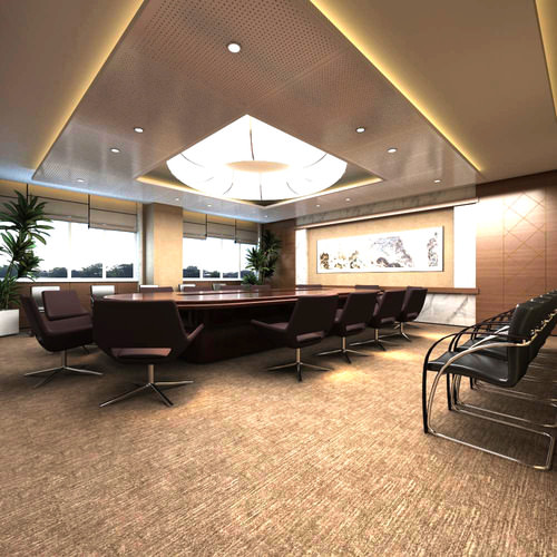 Office space with carpet and marble floor 3d model max for Max floor