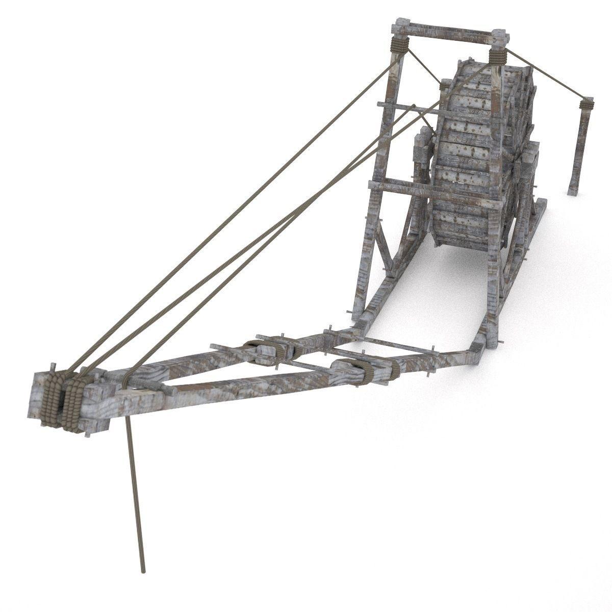 Old Wooden Crane 3d Model Obj 3ds Fbx Hrc Xsi Dae Skp Cgtrader Com