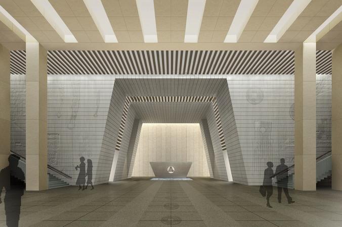 Large Designer Lobby3D model