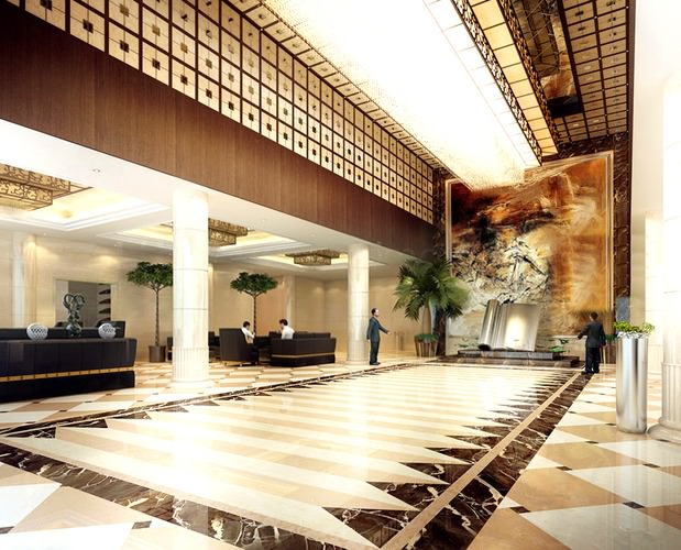 Lobby Ceramic Wall and Wall Painting3D model