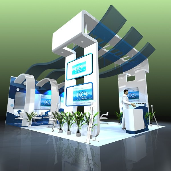Free 3d Exhibition Stand Design : Exhibit booth design d models cgtrader