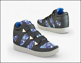 3D model Shoes sneakers 02