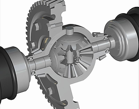 3D model Automobile Differential Gearbox