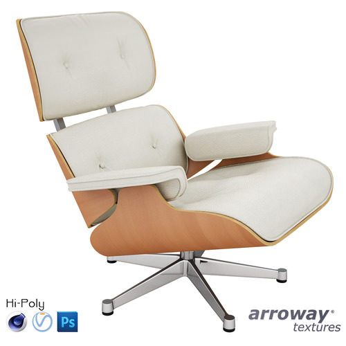 Vitra Lounge Eames Chair - Hi-Poly3D model