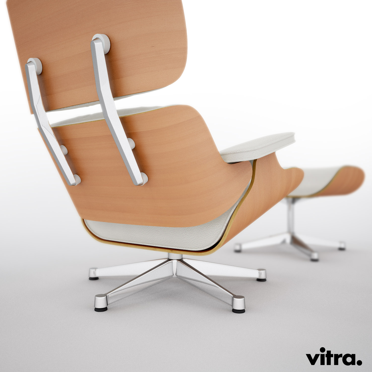 vitra lounge eames chair hi poly 3d model c4d. Black Bedroom Furniture Sets. Home Design Ideas