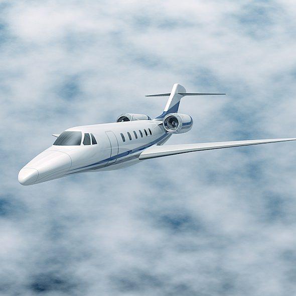 Cessna Citation X Business Jet 3d Model Obj 3ds Fbx Lwo Lw Lws Blend