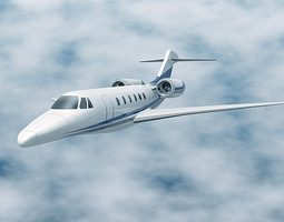 Cessna Citation X business jet 3D model
