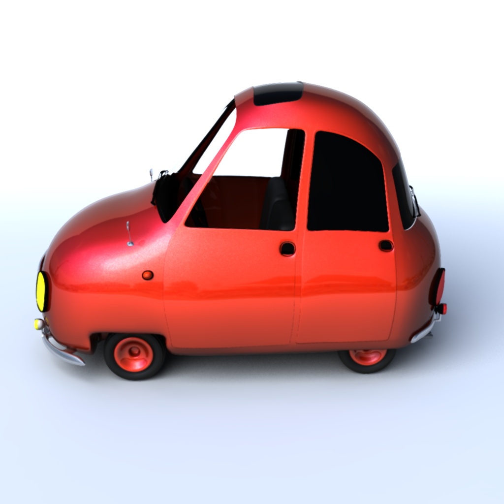 Cartoon Car 3D Model .ma .mb