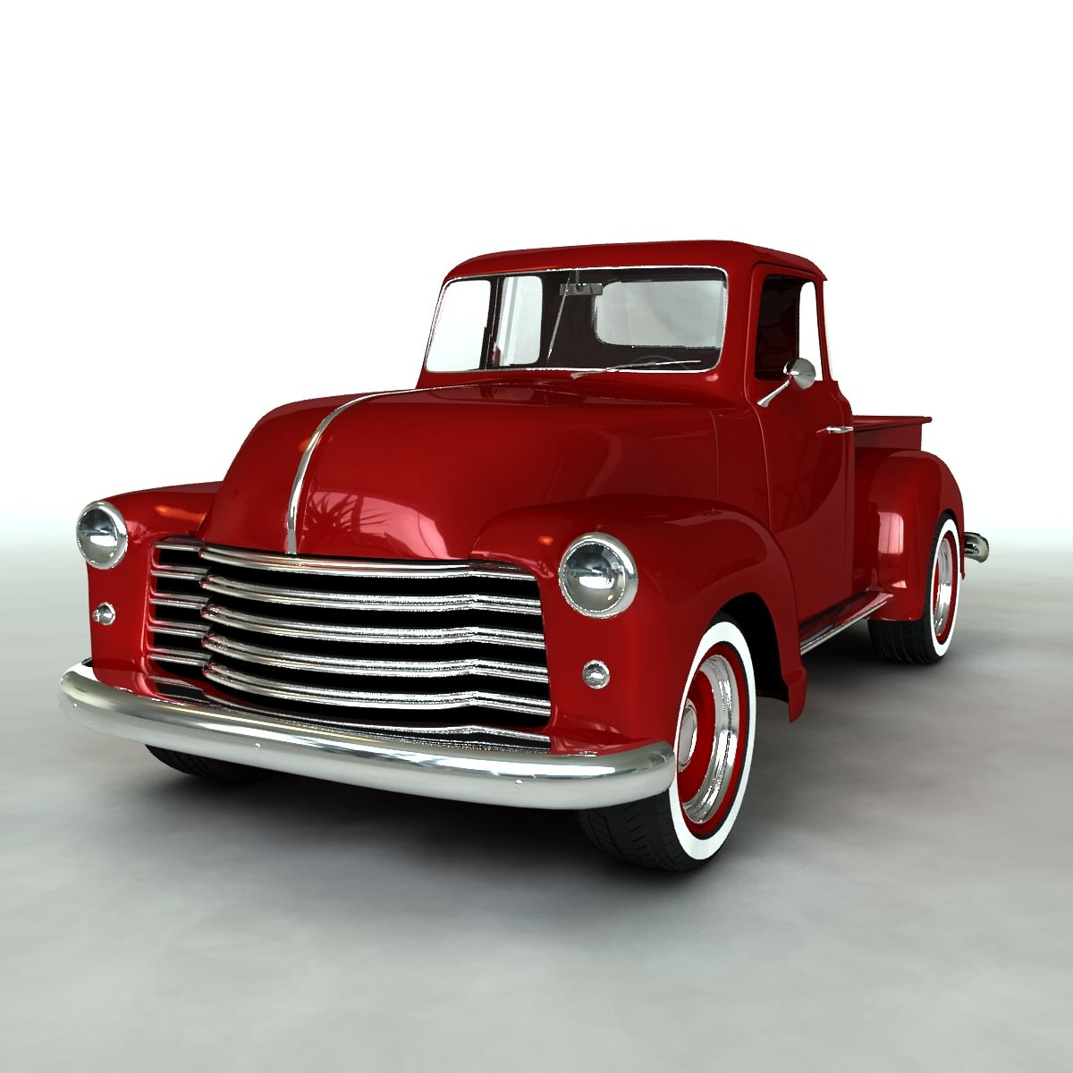 1951 chevy pickup 3d model obj. Black Bedroom Furniture Sets. Home Design Ideas