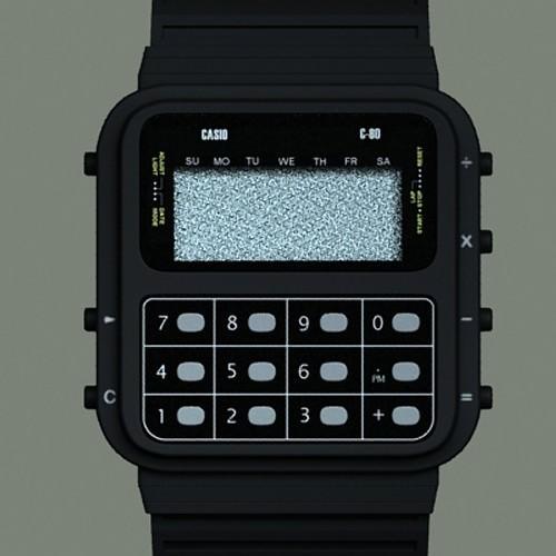 Casio C-80 Watch3D model