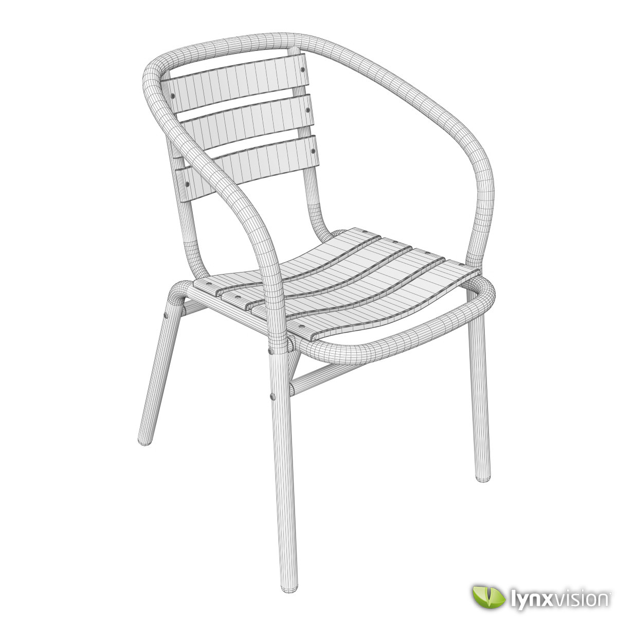 outdoor aluminum chairs collection 3d cgtrader