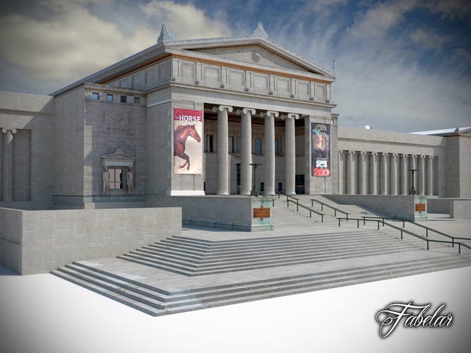 Building 07 field museum 3d model game ready max obj for Exterior 3d model