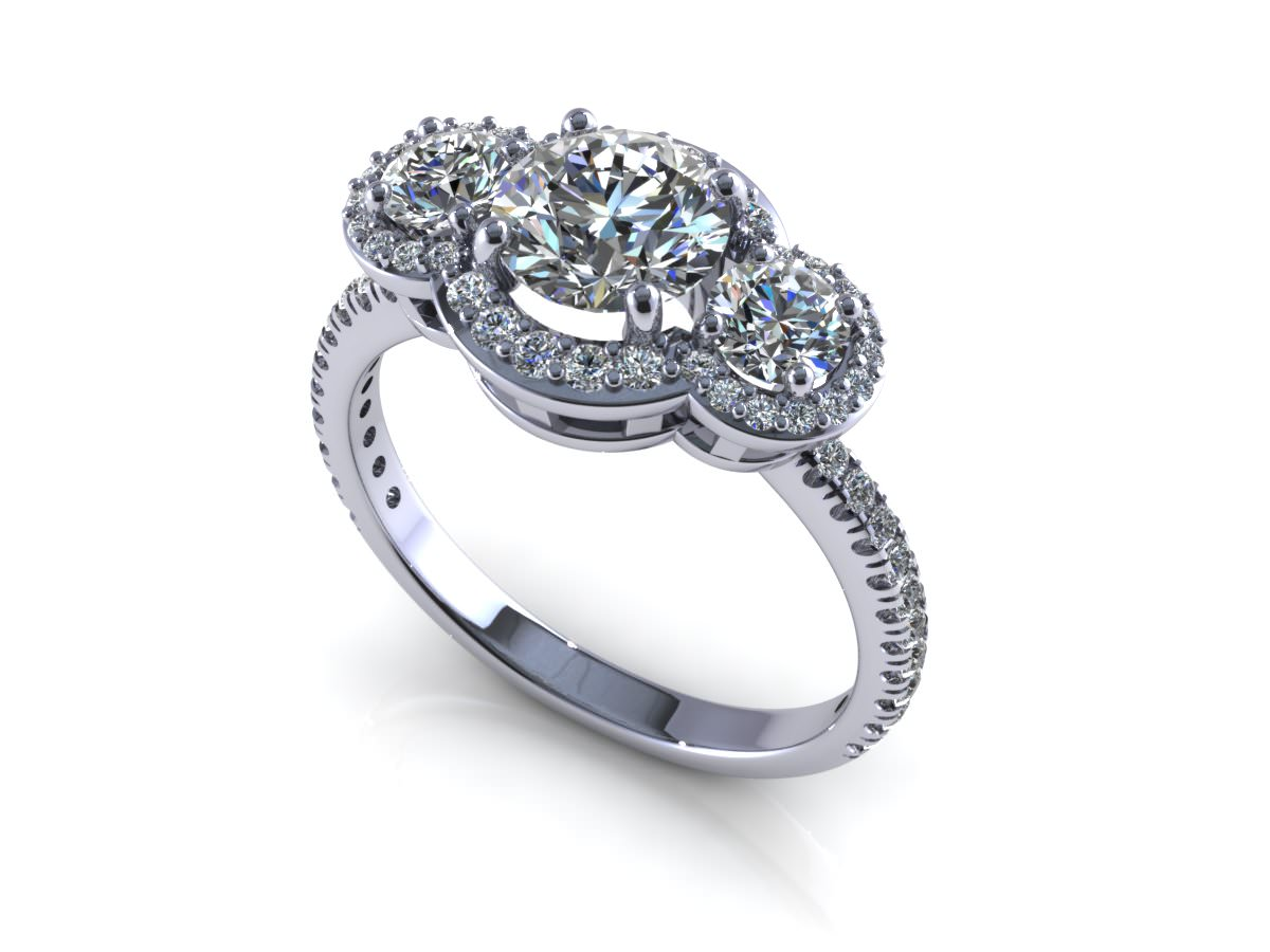 Flower Love Engagement Ring 3D Model l CGTrader