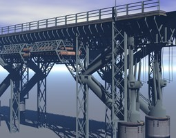 Sci-fi Bridge 3D Model