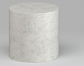 Grey Marmoreal Cylindrical Table 3D model