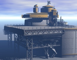 Processing Plant Station 3D Model