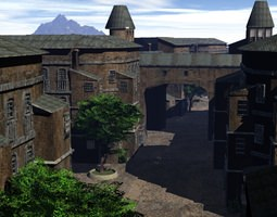 Old European Town 3D Model