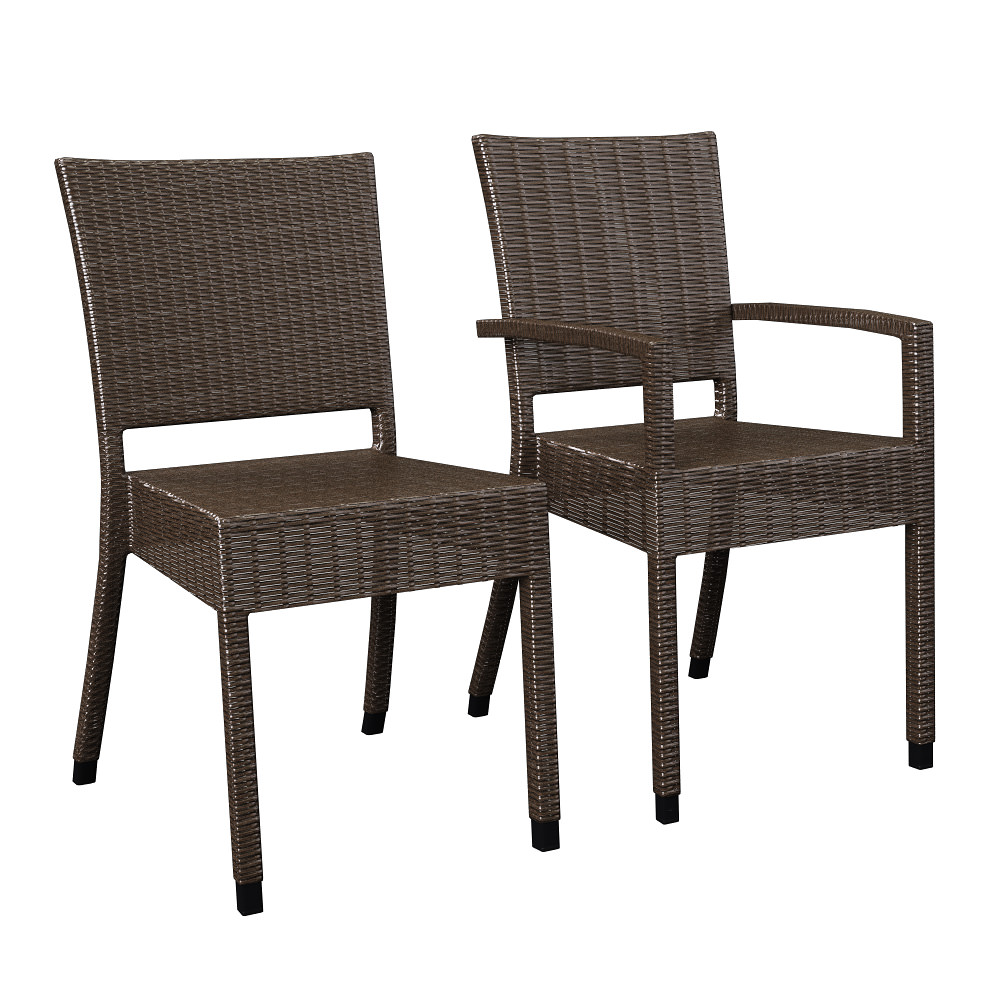 3d model wicker chairs wa24 and wa34