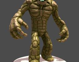 Stone Golem 3D Model