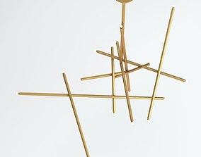 3D Gold Sconce Lamp