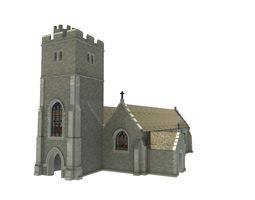 VR / AR ready 3d asset old church