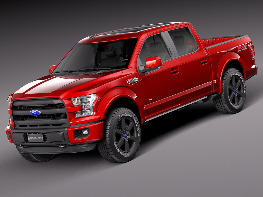 ford f150 lariat crewcab 2015 3d models. Black Bedroom Furniture Sets. Home Design Ideas
